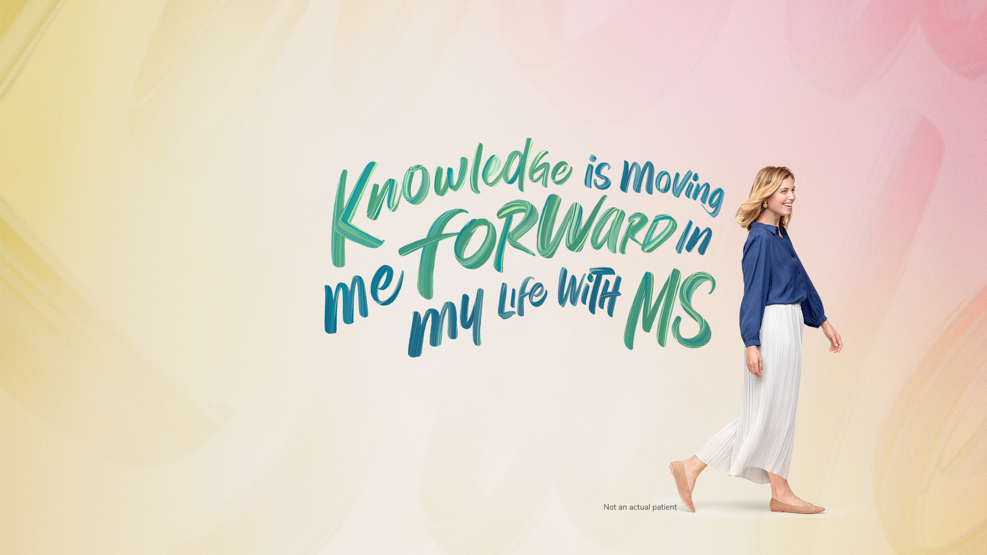 Knowledge is moving me forward in my life with MS
